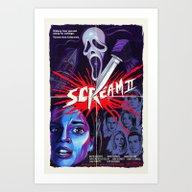 Art Print featuring Scream 2 Movie Poster by IBTrav