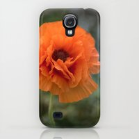 Galaxy S4 Cases featuring Enlightened Poppy  by UtArt