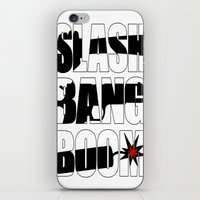 SLASH BANG BOOM! iPhone & iPod Skin