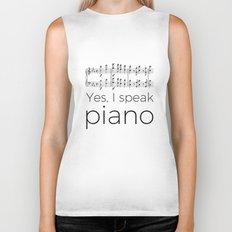 I speak piano Biker Tank