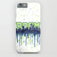 iPhone & iPod Case featuring Seattle 12th Man Seahawks Painting Legion of Boom Art by Olechka