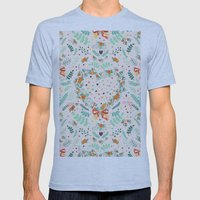 Nature pattern Mens Fitted Tee Athletic Blue SMALL