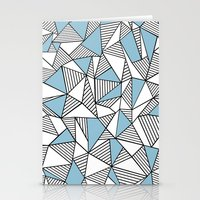 Abstraction Lines Sky Bl… Stationery Cards