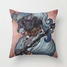 Jack of Spades art print Throw Pillow