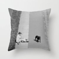 way out in the water... Throw Pillow