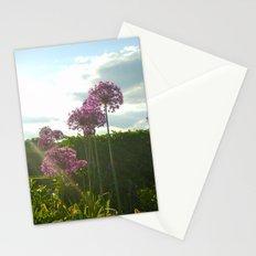 Purple Pansy Stationery Cards