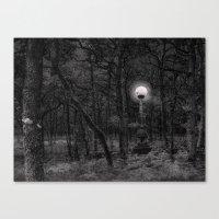 Moon Woods Canvas Print