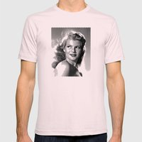 Rita Hayworth Mens Fitted Tee Light Pink SMALL