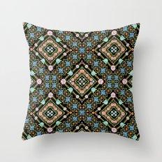 Millefiori Floral Lattice Throw Pillow