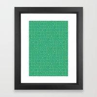 Symbol Sudoku Framed Art Print