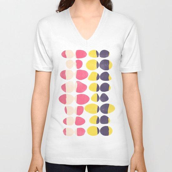 Painted Pebbles 3 V-neck T-shirt
