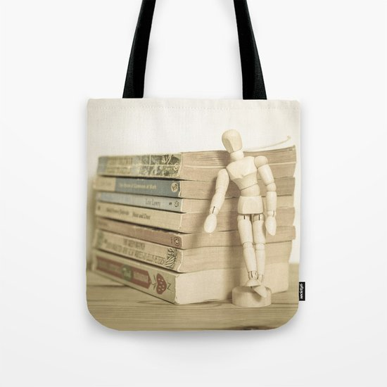 Little man books Tote Bag
