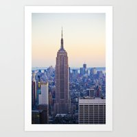 The Empire State Buildin… Art Print