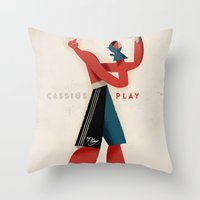 Cassius Play Throw Pillow