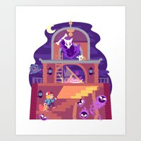 Tiny Worlds - Lavender Town Tower Art Print