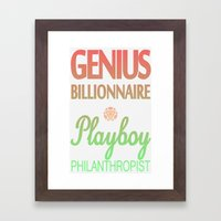 GENIUS TONY Framed Art Print