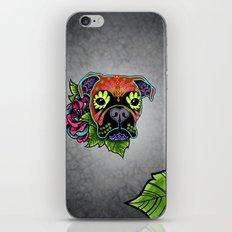 Boxer in Fawn - Day of the Dead Sugar Skull Dog iPhone & iPod Skin