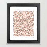 coral pink coral pattern Framed Art Print