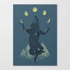 Moon Juggler Canvas Print