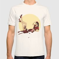 Pinned-Up Entrails  Mens Fitted Tee Natural SMALL