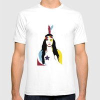 =Juliette Lewis///White= Mens Fitted Tee White SMALL