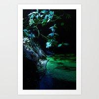 Leaf Lighting Art Print
