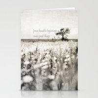from humble beginnings come great things Stationery Cards