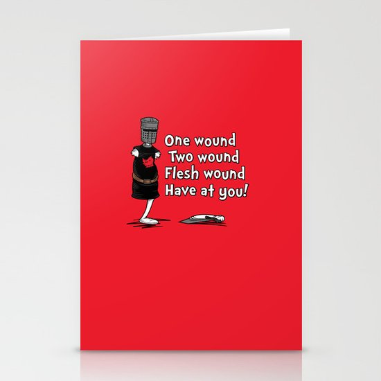 One Wound, Two Wound..... Stationery Card