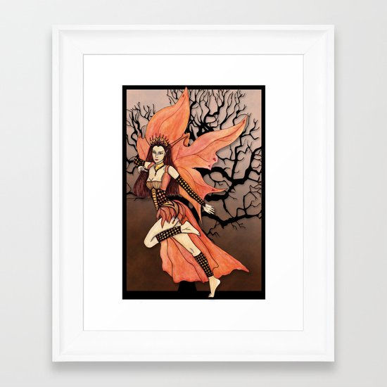 Fairy, Autumn Dance Framed Art Print