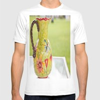 Vase Mens Fitted Tee White SMALL