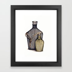 Ninja Bottles Framed Art Print