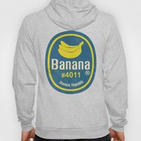 Banana Sticker On Blue Hoody