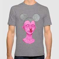 MOUSE Mens Fitted Tee Tri-Grey SMALL