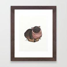 HippoCat's Cardboard Box Framed Art Print
