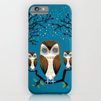 iPhone & iPod Case featuring Three Lazy Owls by Oliver Lake