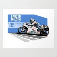 Fausto Gresini - 1985 Sp… Art Print