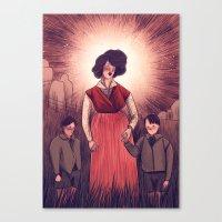 holy agnes Canvas Print