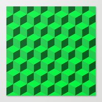 Geometric Series (Green)… Canvas Print