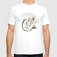 Howl At The Moon Mens Fitted Tee White SMALL