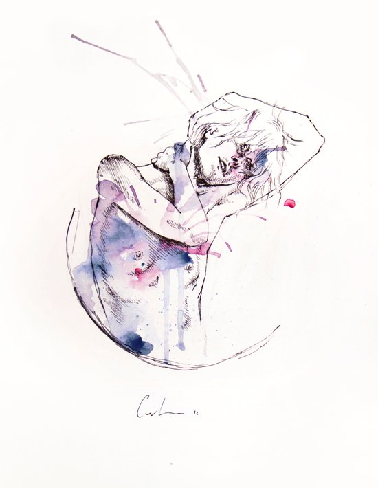 circles - con occhi porpora Art Print