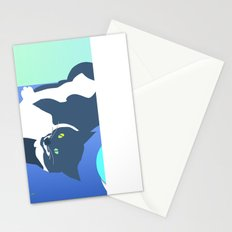 Jack Cat Does Pushups Stationery Cards
