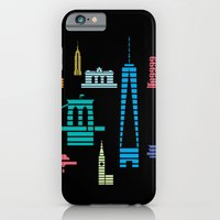 iPhone & iPod Case featuring New York Skyline One WTC Poster Black by Christopher Dina