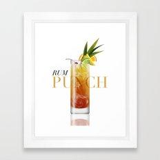 Rum Punch Framed Art Print