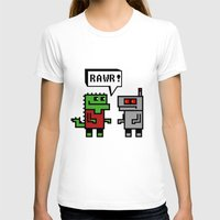 RAWR Womens Fitted Tee White SMALL