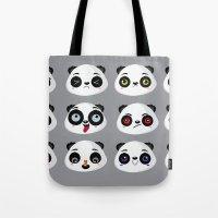 Panda faces Tote Bag