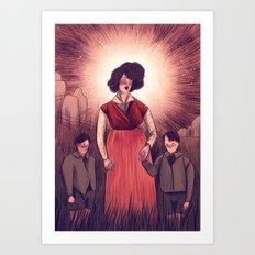 holy agnes Art Print
