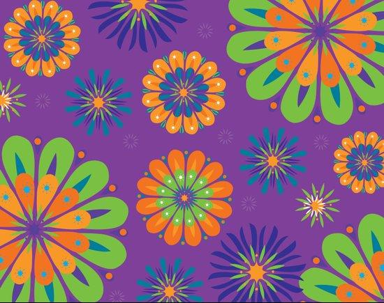 Psychoflower Purple Art Print