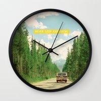 NEVER STOP EXPLORING IV Wall Clock