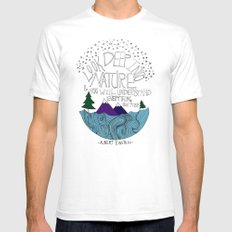 Nature II White Mens Fitted Tee SMALL