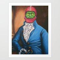 Gentleman In A Blue Coat Art Print